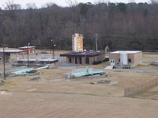 A view of the Wastewater Treatment Plant.